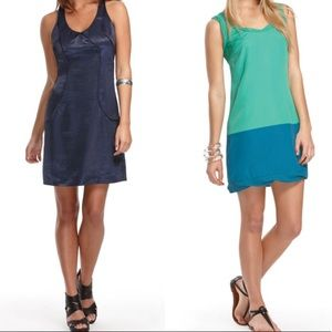 Thakoon For Target Green and Blue Colorblock Dress